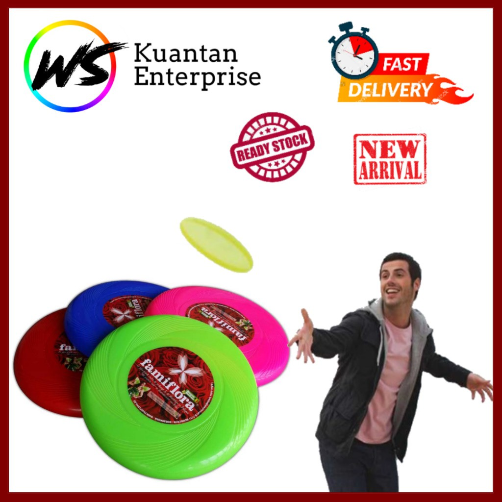 【100% Ready Stock】Multi-Colour Plastic Flying Disc | Frisbee