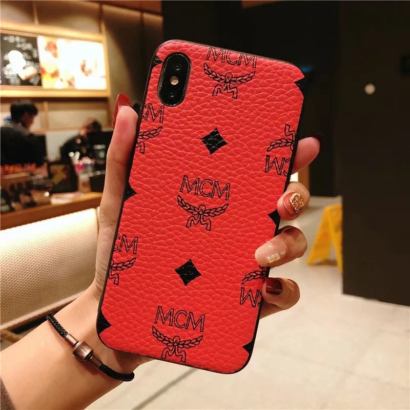 more photos 64912 9317d Phone Case For iphone 6 6s 7 8 Plus X XS Phone Cover Retro fashion Luxury  MCM