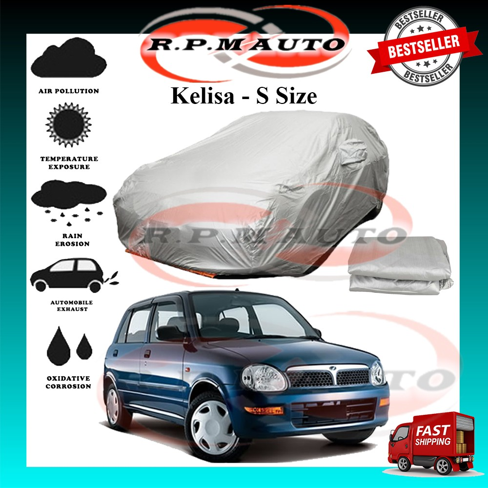 Perodua Kelisa High Quality Yama Car Cover - S Size (450 x 170 x 119cm) selimut kereta kelisa car cover kelisa
