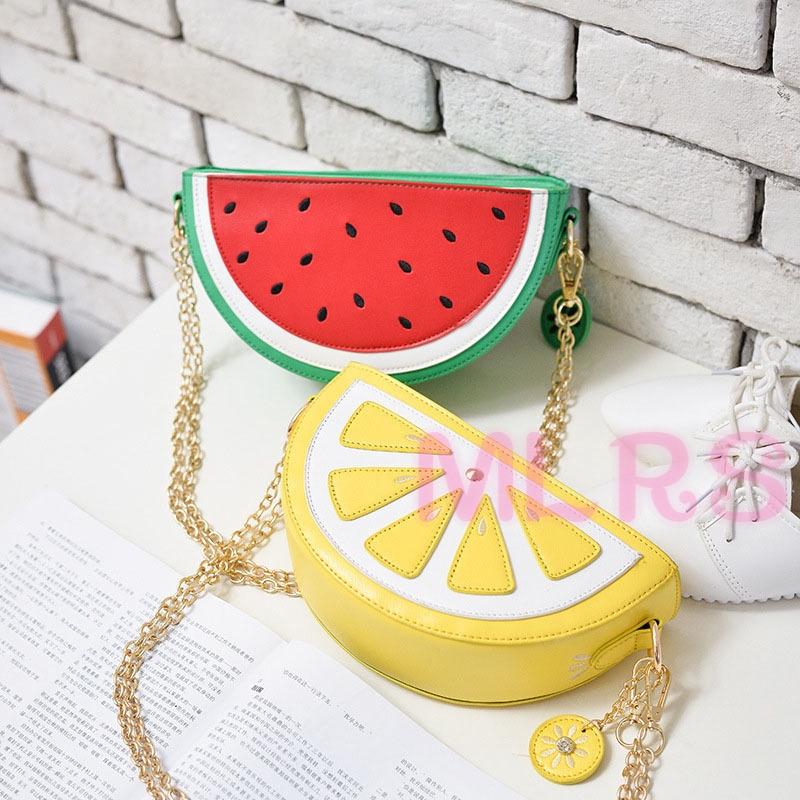Womens Girls Watermelon Shoulder Bag Fruit Clutch Handbag Slingbag Evening