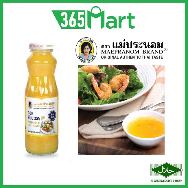 MAEPRANOM Pineapple Chilli Sauce Thai 830g HALAL Glass Bottle by 365mart 365 Mart