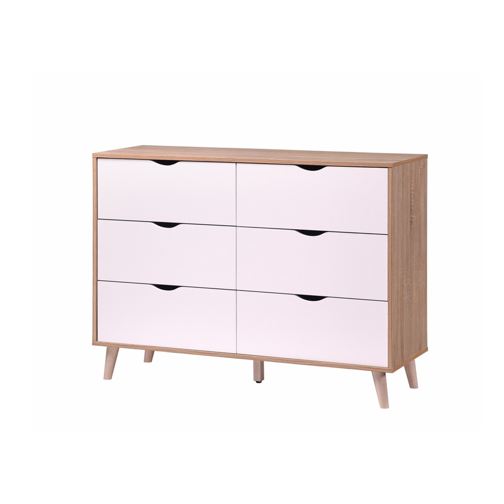 Prkoricia Chest of Drawer/ 6 Drawers/ Drawer with 6 Storages/ Cabinet
