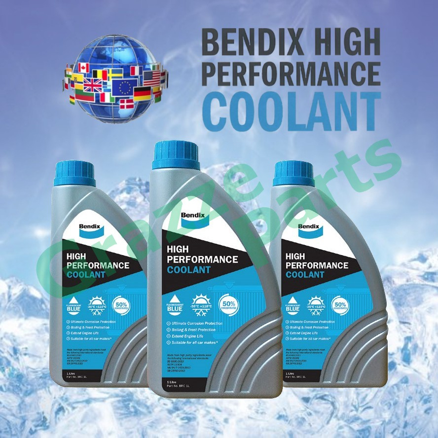 (1 Litre) Bendix High Performance Coolant is a pre-mixed Organic Acid Technology (OAT) coolant with demineralised water