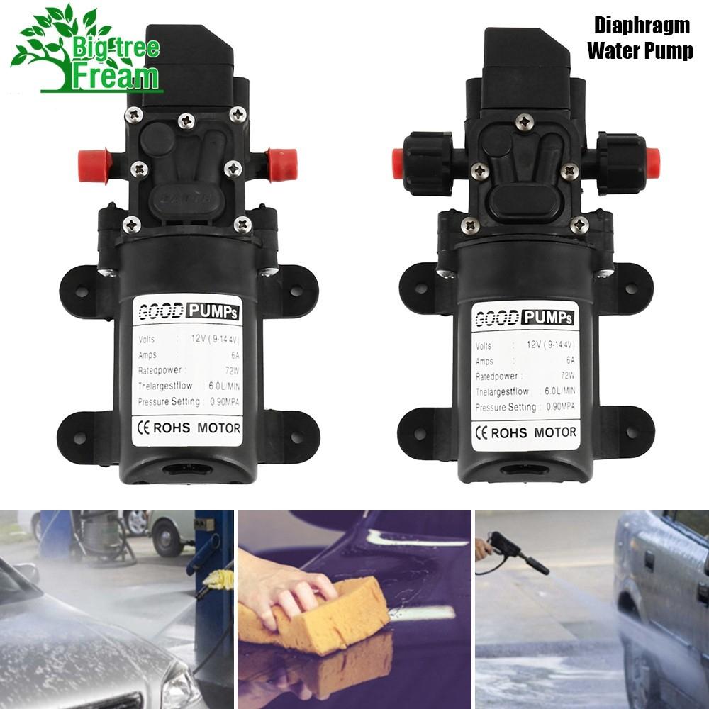 72W 12V 130PSI 6L//M High Pressure Diaphragm Self Priming Water Pump Caravan Wash