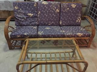 Used Rotan Sofa 3 1 1 Ans Tea Table Shopee Malaysia