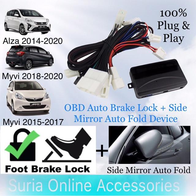 Perodua Myvi 2015-2020 /Alza 2014-2020/Axia 14-20 | OBD Auto Brake Lock / Auto Door Lock Device | Side Mirror Auto Fold