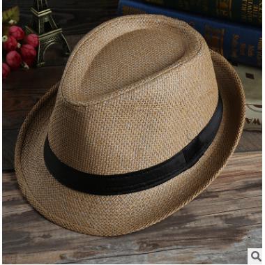 51a318977c 1PC Unisex Summer Beach Hat Sun Jazz Panama Gangster Cap Men Women ...