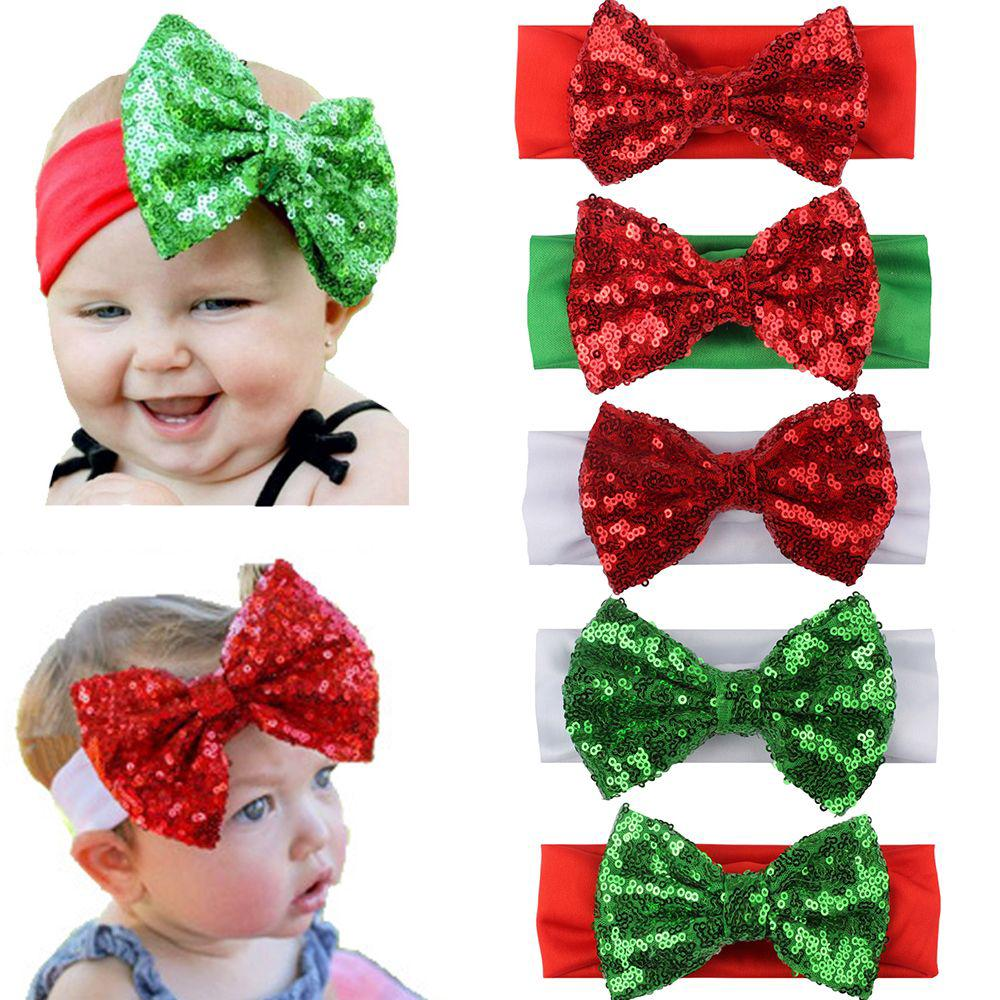 Christmas Headband For Baby Girl.Newborn Headband Christmas Headbands Baby Girls Sparkling