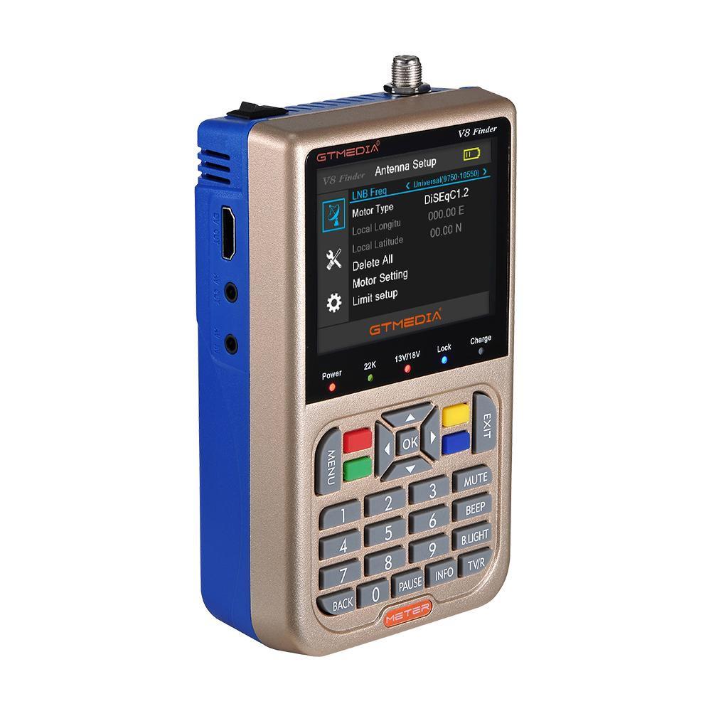 <> Handheld Digital LCD Display S/S2 1080P V8 Satfinder Meter