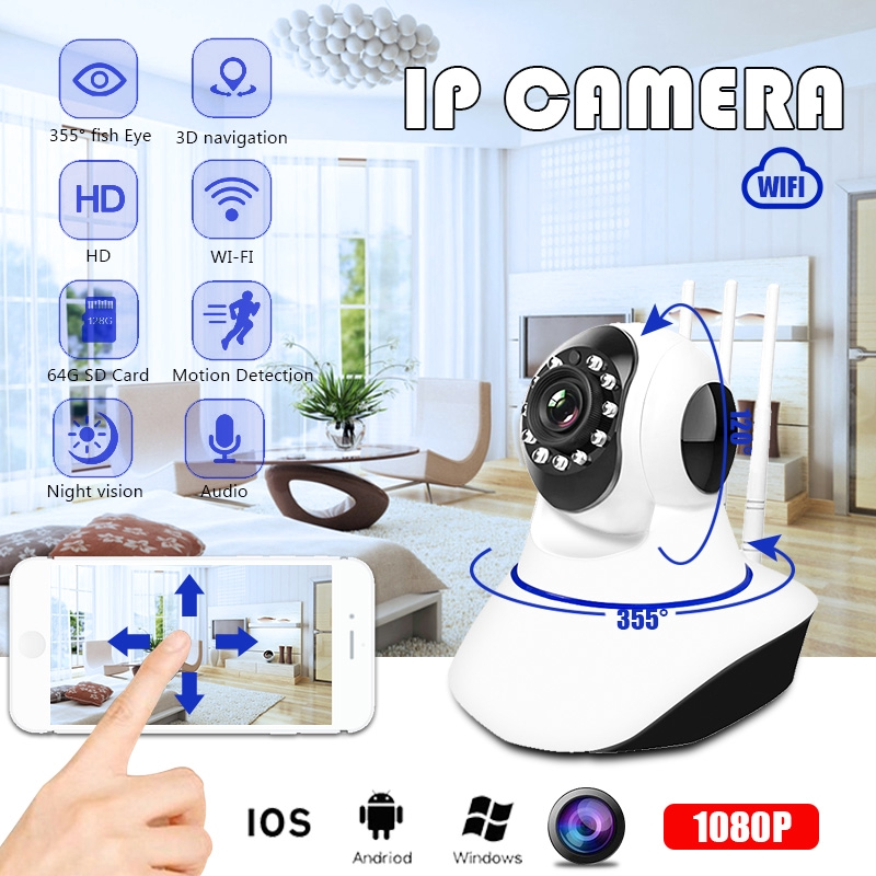 1080P Wireless CCTV Camera IR Night Vision Security Webcam Baby Monitor IP  Cam