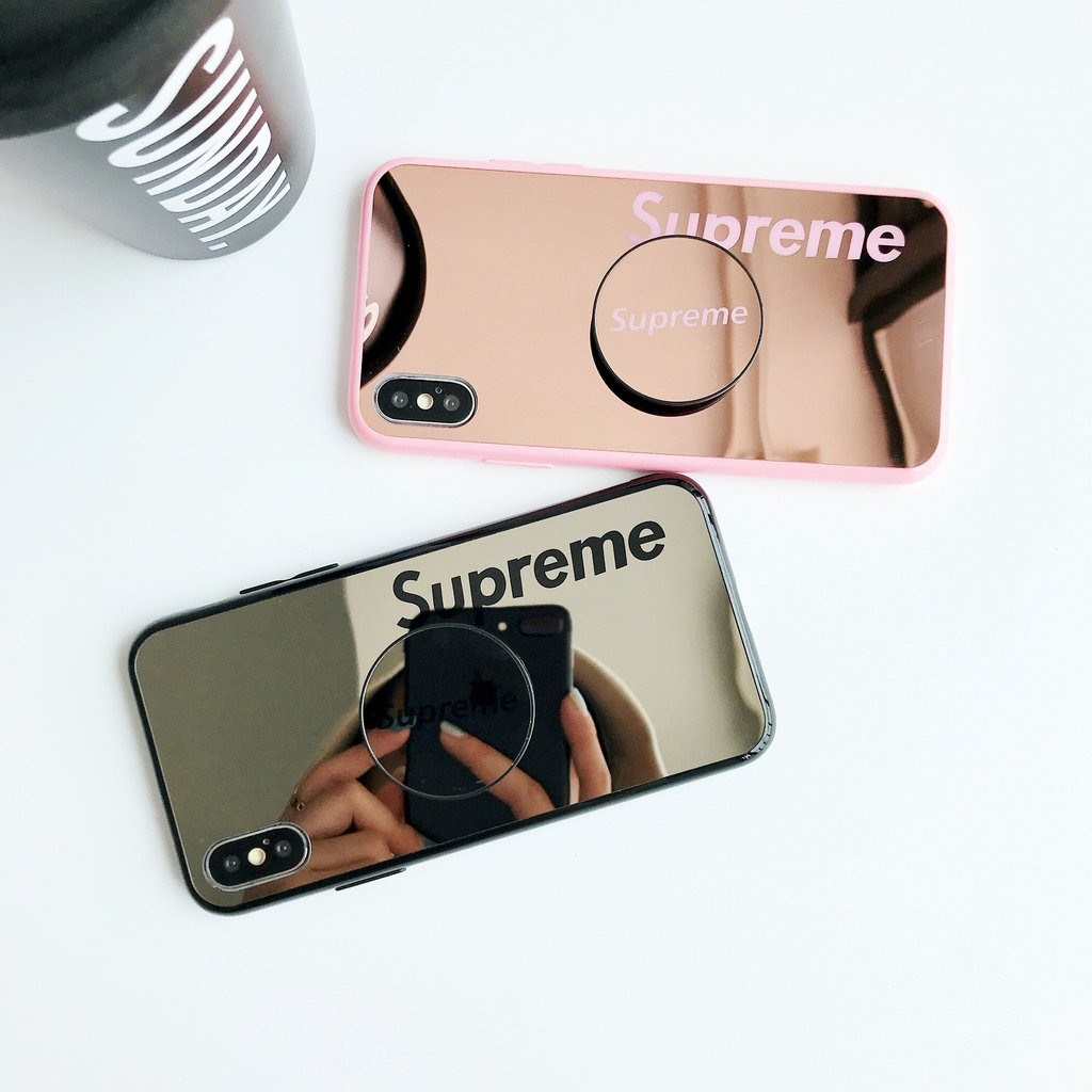 buy online e3a14 1e03f OPPO R9 R9s R11 R11s Plus R15 Casing Mirror Phone Cover Supreme Words Case