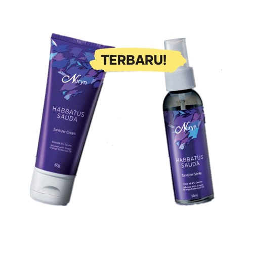 Tupperware Nuryn Habbatus Sauda Sanitizer Cream 50g / Spray 50ml (1)