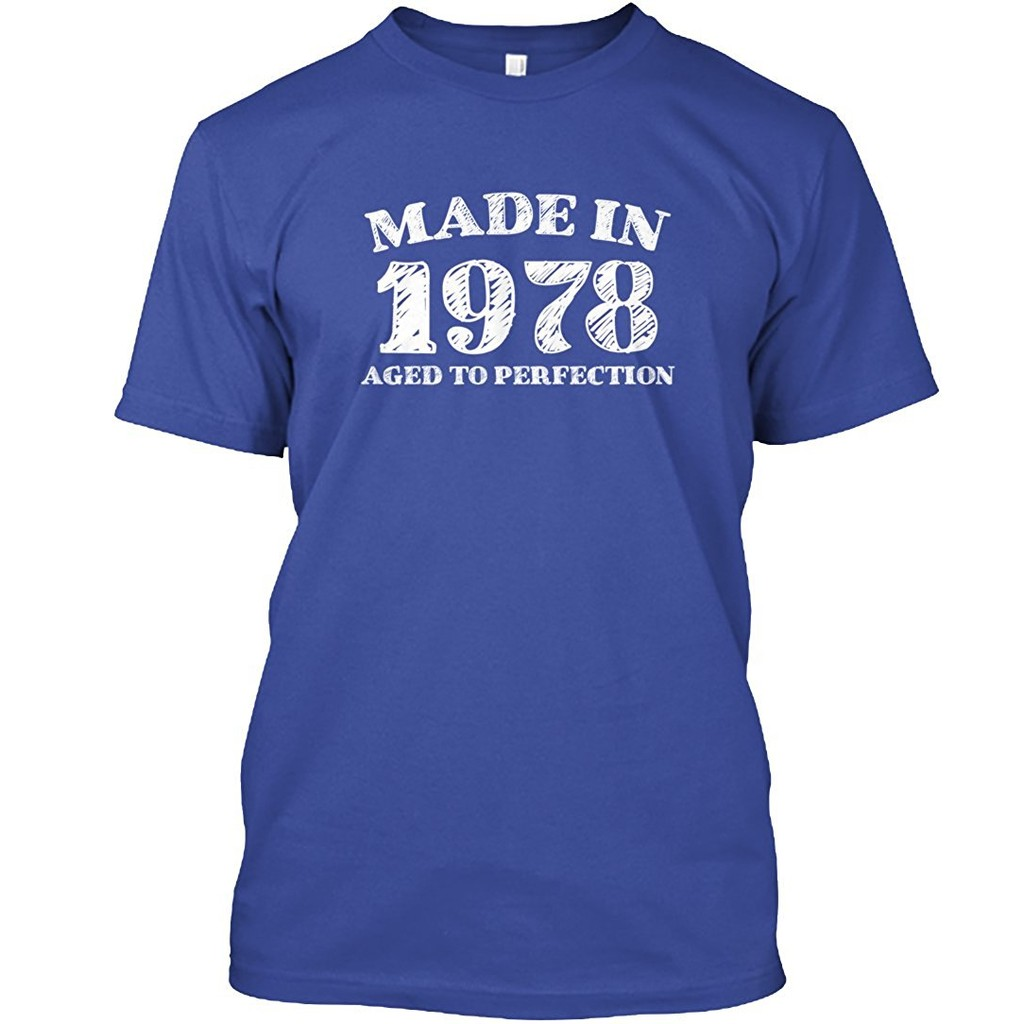 Vintage Mens 40th Birthday T Shirt Aged To Perfection Apparel