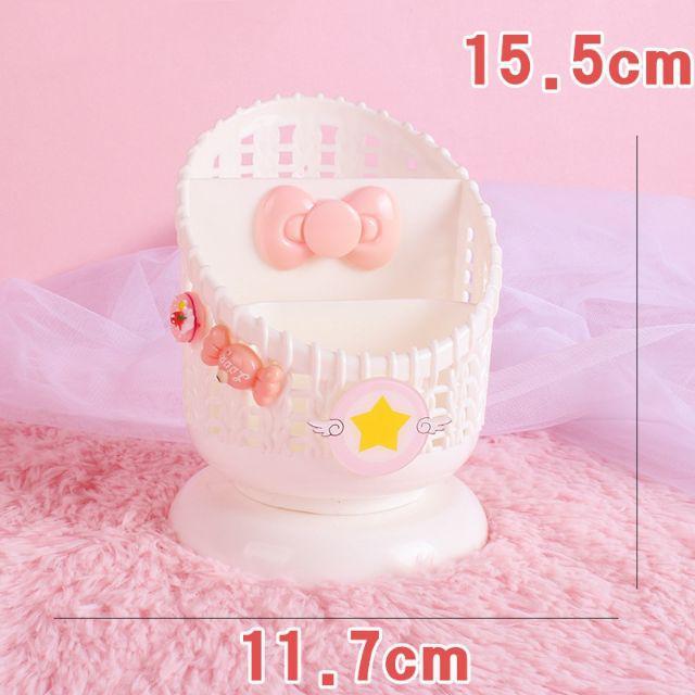 [ READY STOCK ]  Girl Heart Pink Storage Box Pen Container Creative Fashion Cute Student Desktop Star Holder Jualan Murah