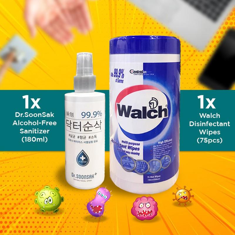 【Korea Truly Non-Toxic / Irritant Spray】Dr.Soonsak 180mL Spray + Walch Wet Wipes