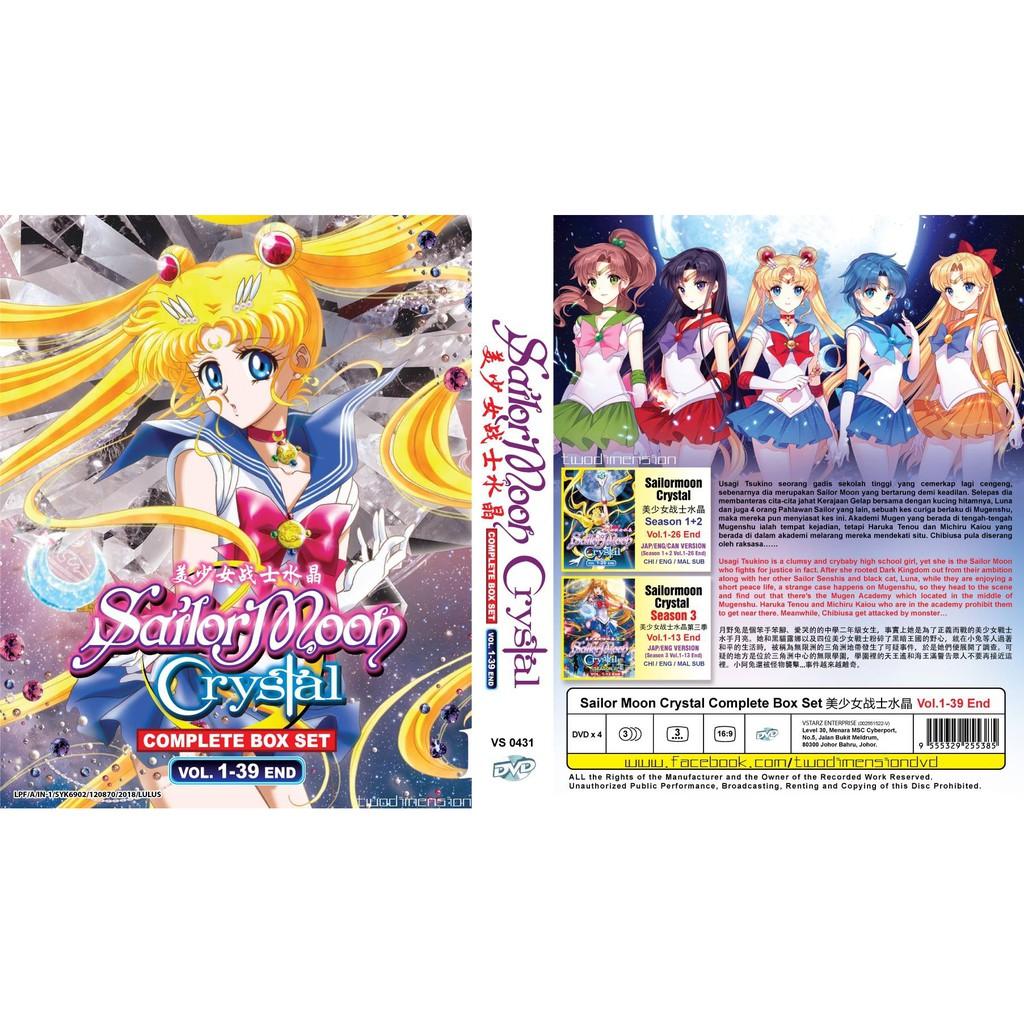 ANIME DVD ~ Sailormoon Crystal Season 1-3(1-39End)
