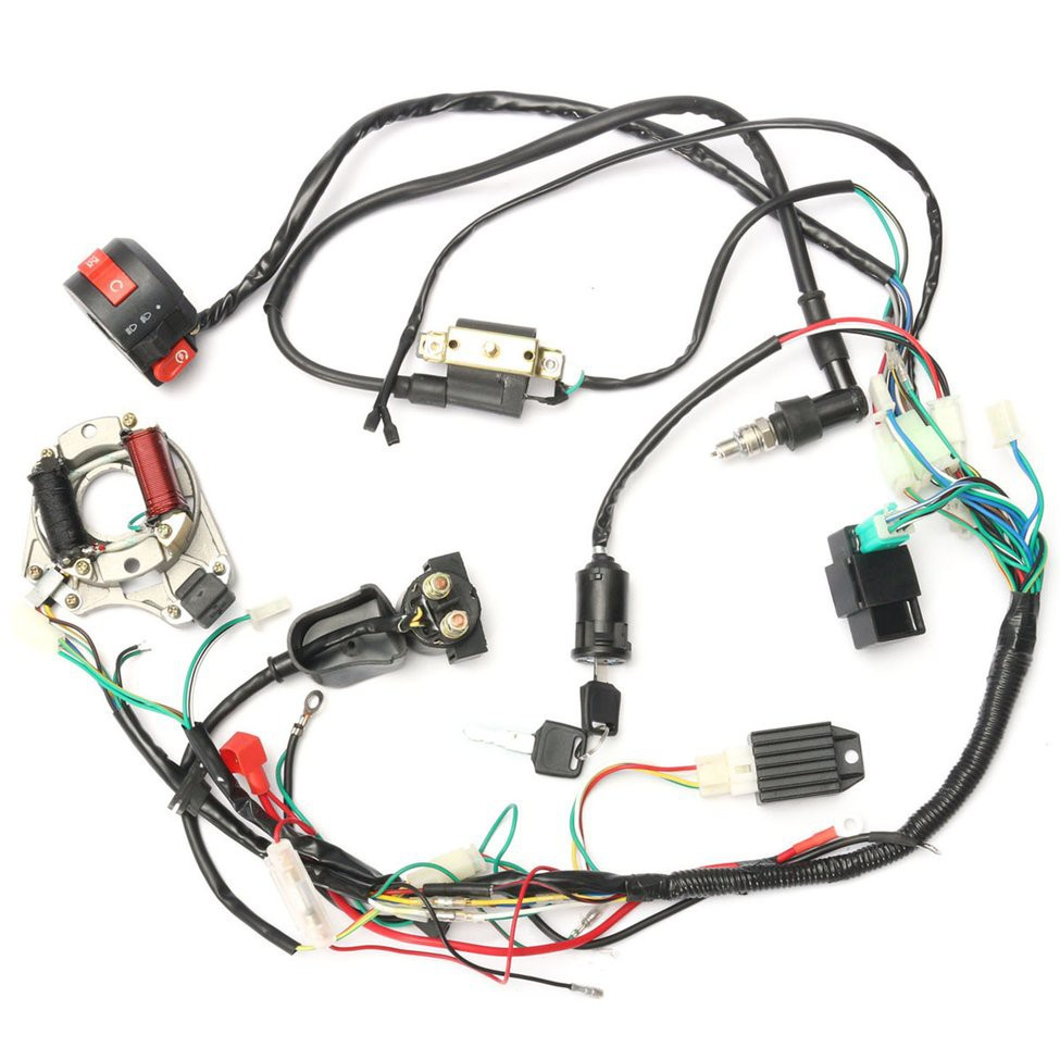Wiring Loom Kill Switch Coil Cdi Spark Kit Plug For 110cc 125cc Harness Wireloom 50cc Atv Quad Bike 140cc Pit Shopee Malaysia