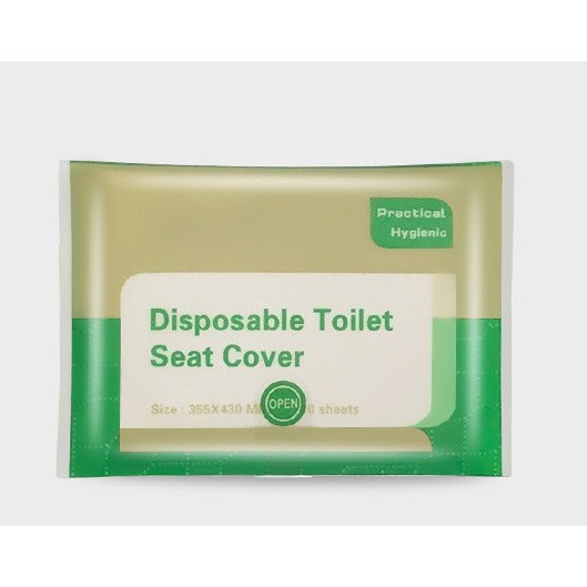 Malaysia Ready Stock Travel Disposable Paper Toilet Seat Cover/ Paper toilet cover/ Disposable toilet cover 10pcs /pkt