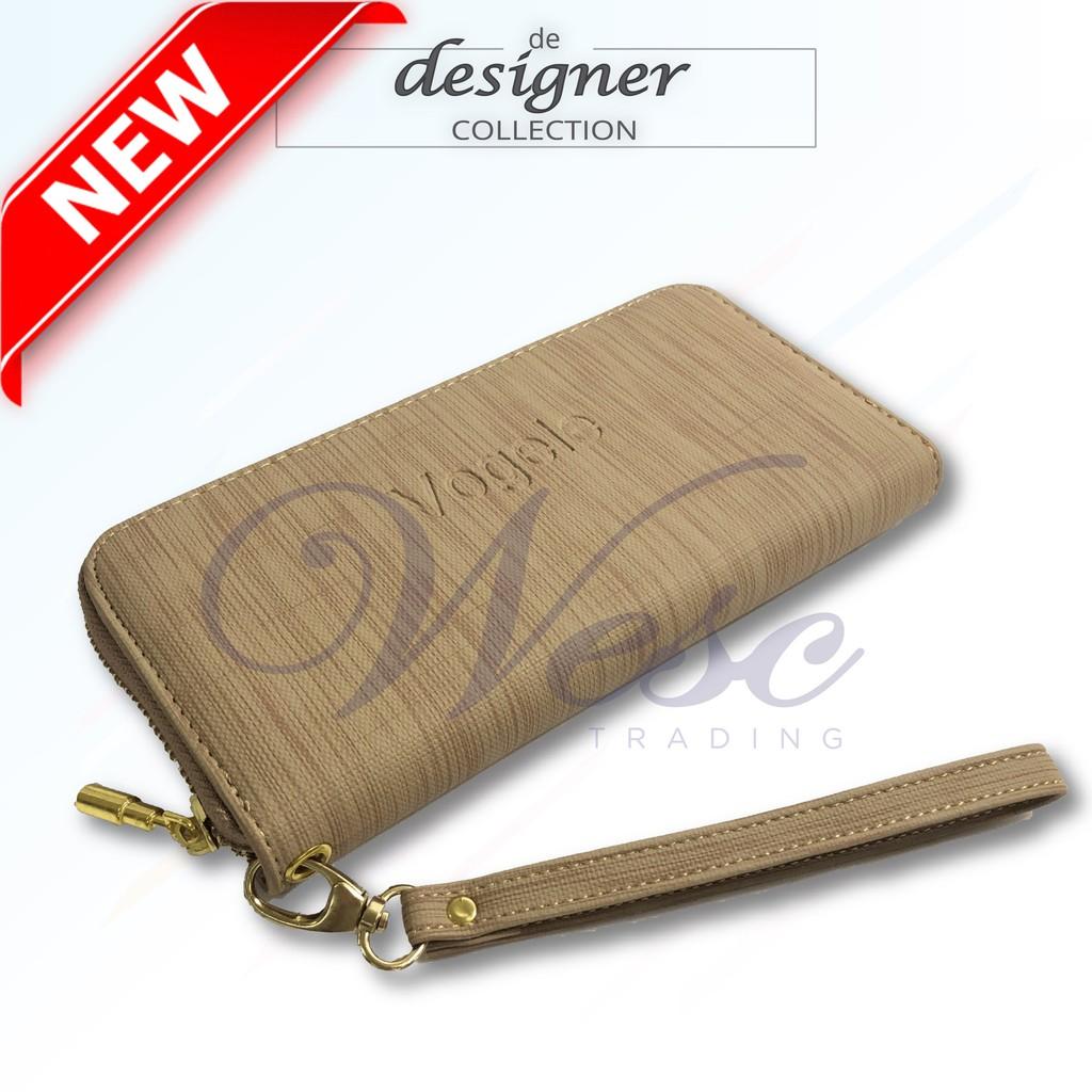 Korean Designer Stylish Long Zipper Purse - LIMITED EDITION (Khaki - VGL)