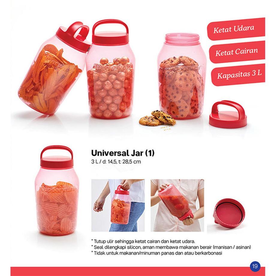 Tupperware Universal Jar 3L/1.5L (1 unit)