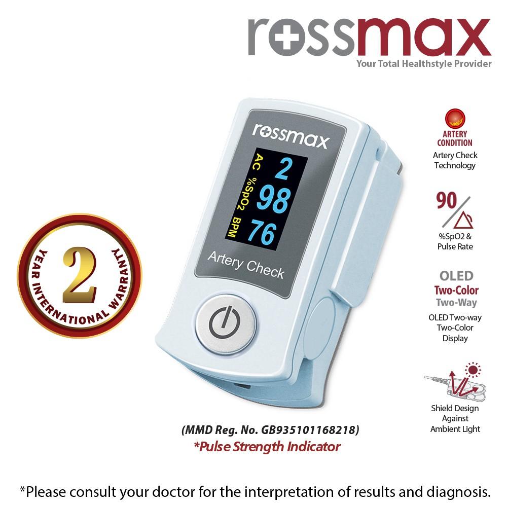 "ROSSMAX Fingertip Pulse Oximeter With ""ACT Model SB200"