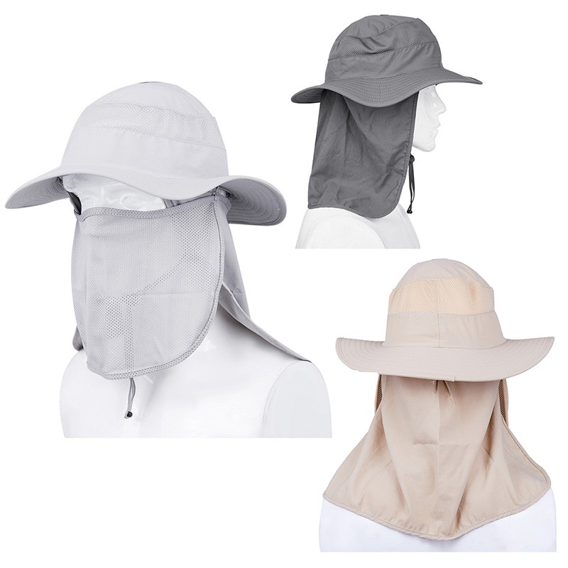 17facc29 ProductImage. ProductImage. ♥Ready !UV Protection Face Neck Flap Sun  Fishing Hat Mask ...
