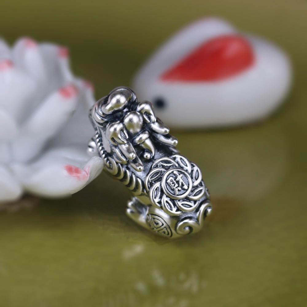 999 Fine Silver Tiger Bead 3D Sterling Silver Spacers for Bracelet