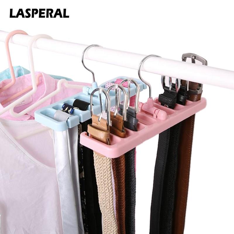 Hook Organizer Holder Rack Storage Hanger Wardrobe Tie Scarf Belt