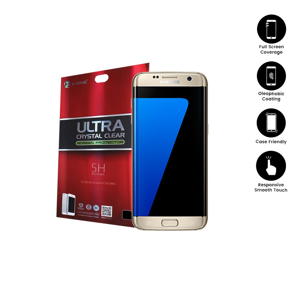 Samsung S7 Edge ( G935 ) X-One Ultra Crystal Clear Screen Protector(2in1)