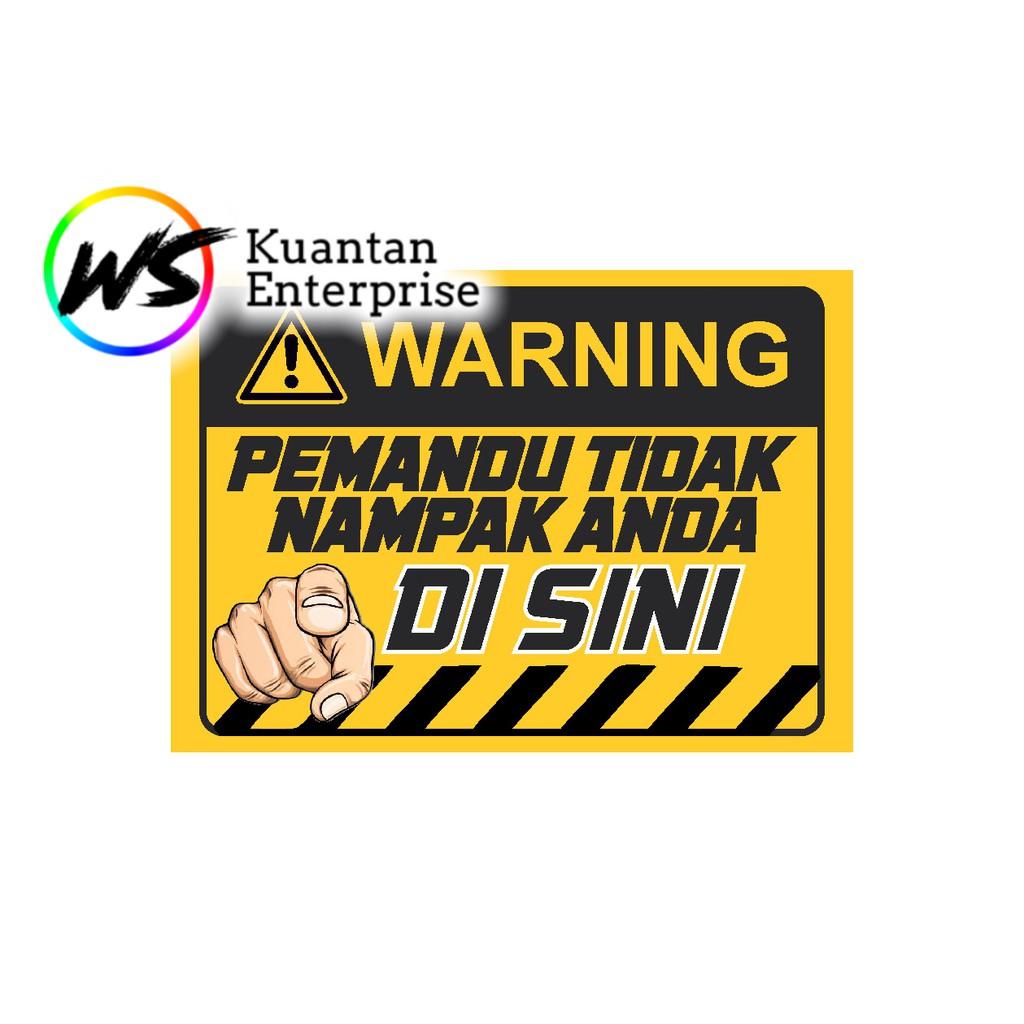 【100% Ready Stock】WATERPROOF STICKER Lorry Sticker / Stiker Awas Lori / Keselamatan Blind spot  (Size A4)