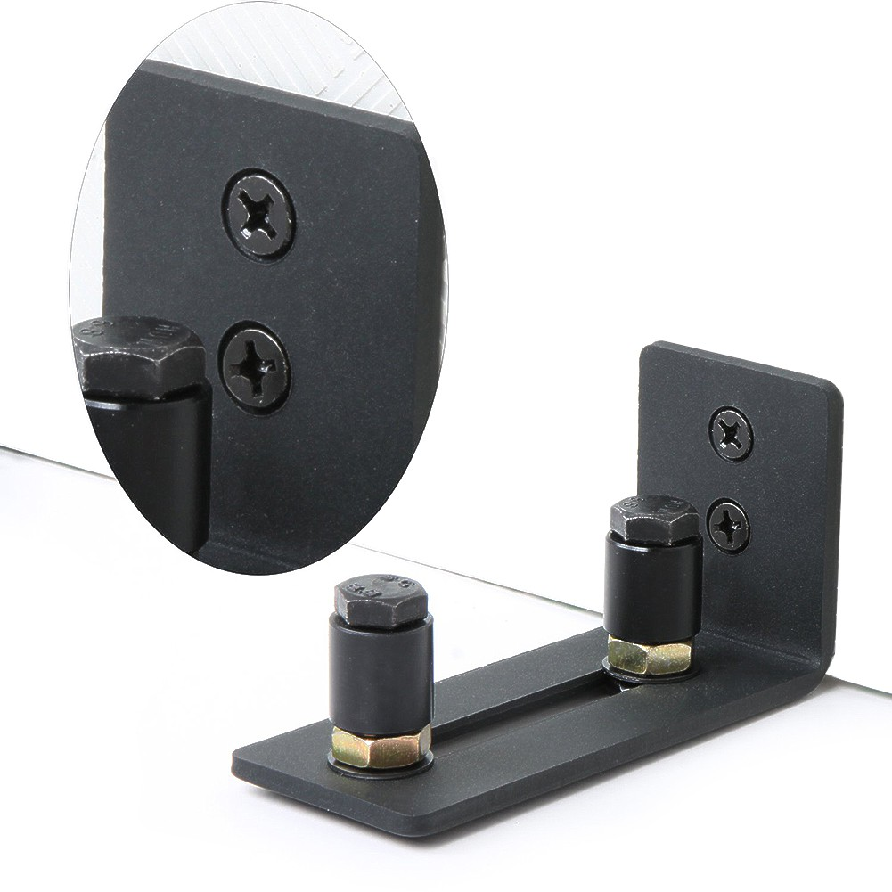 Adjustable Barn Door Sliding Stay Roller Bottom Floor Guide Hardware Wall Mount