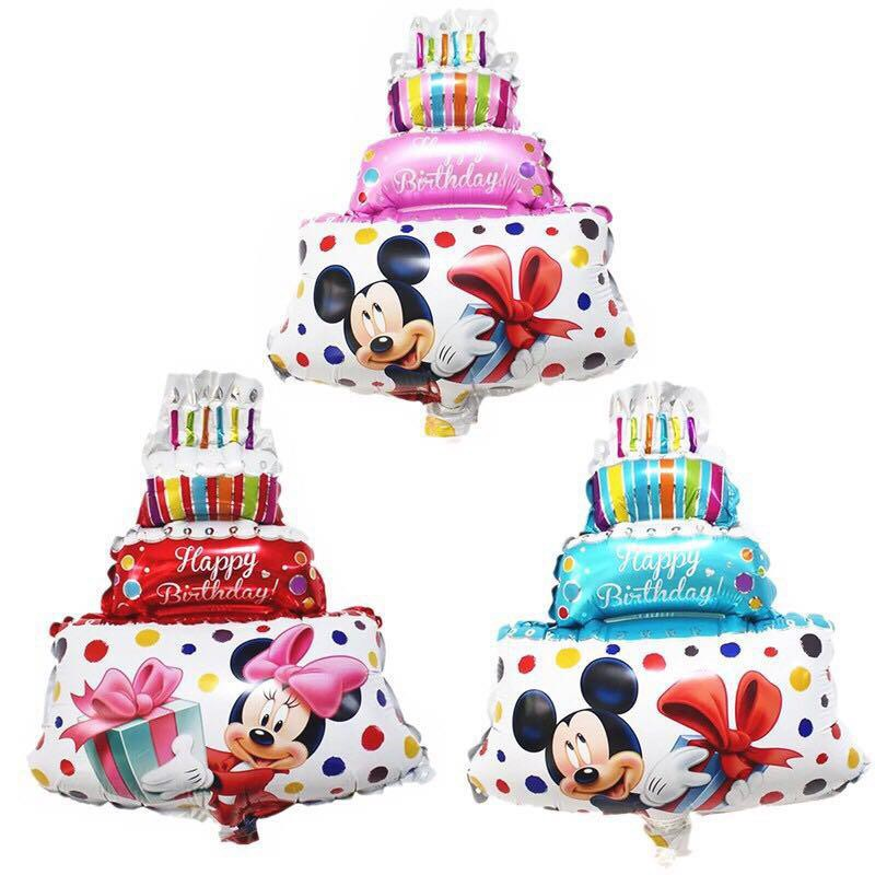 Strange Mickey Mouse Big Birthday Cake Party Decorate Aluminum Foil Funny Birthday Cards Online Alyptdamsfinfo