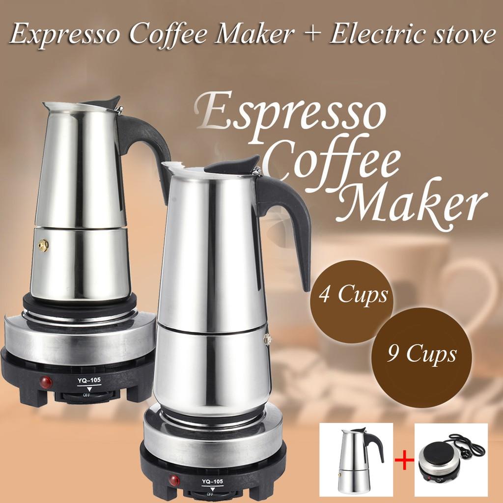 Portable Espresso Coffee Maker Moka Pot