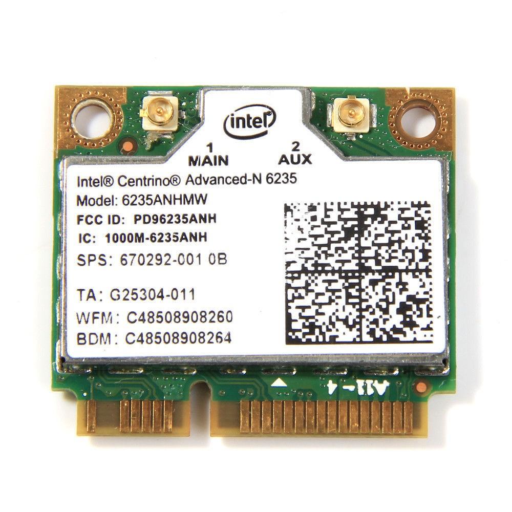 Intel Advanced-N 6235 Dual Band Bluetooth4 0 300Mbps Mini PCI-E Wlan Cardv