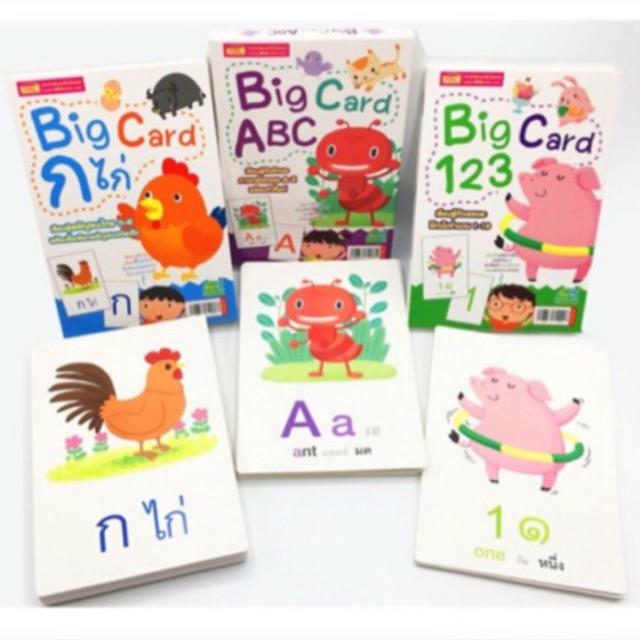 เล่นได้ตั้งแต่ 6 เดือนขึ้นไปค่ะ‼️BIG Card Flash Card แฟลชการ์ด abc กขค 123 AR