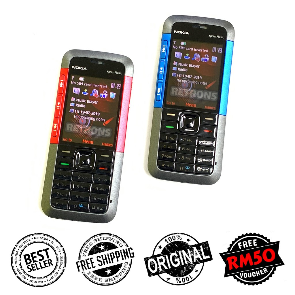 Original Nokia 5310 Xpress Music Full Set [ 1 Month Warranty ] Free RM50 Voucher [Premium Refurbished by Retrons]