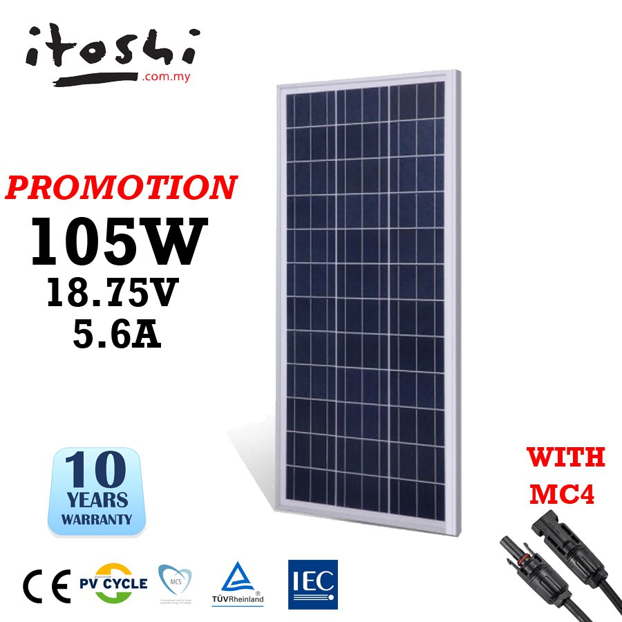 Itoshi 105w 100w Poly Cell Solar Panel