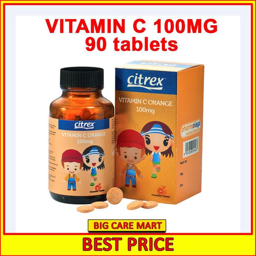 Citrex Vitamin C 100mg Chewable Orange 90tablets