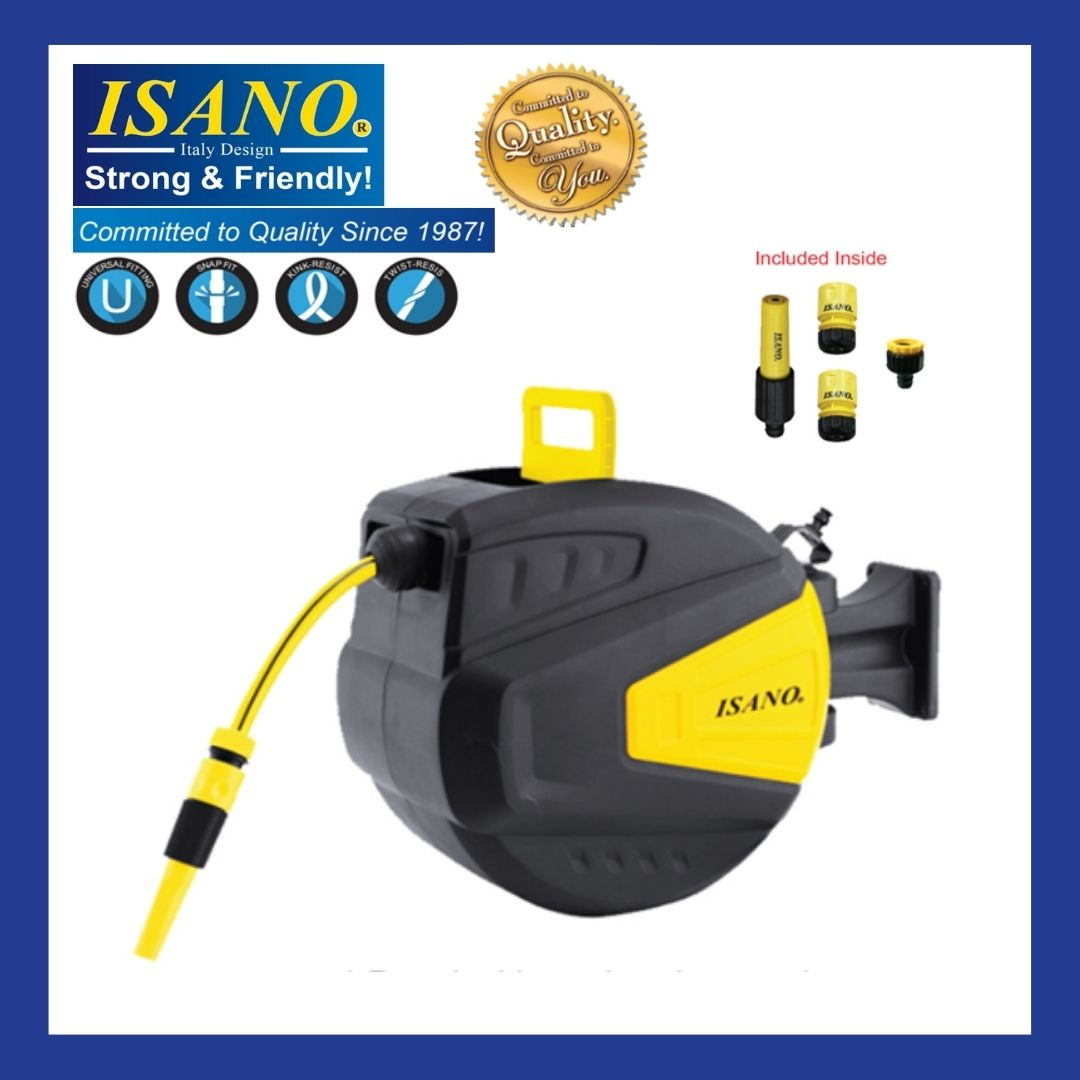 ISANO 1/2'' x 20m Automatic Retractable Hose Reel IHG-03 / IHG03 / IHG 03