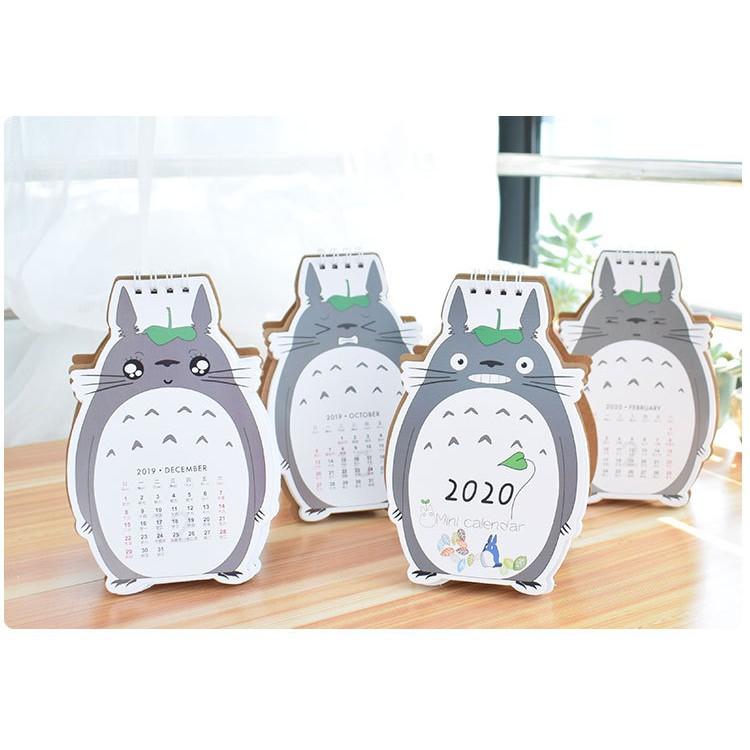 Hamster Cat Totoro Cute Cartoon Office Stationery Desk Calendar 2020
