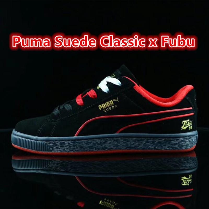 reputable site 93e71 50557 Original Puma Suede Classic x Fubu Men skateboard shoes Women sneakers