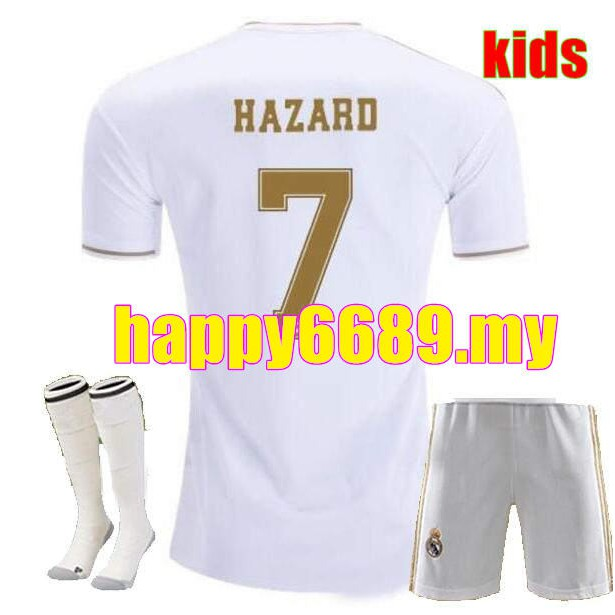 3cc19068ad Kids kit +socks Real Madrid 2019 MARIANO ASENSIO MODRIC soccer jersey 19 20  HAZARD ISCO Camiseta Boy football shirts Thi | Shopee Malaysia