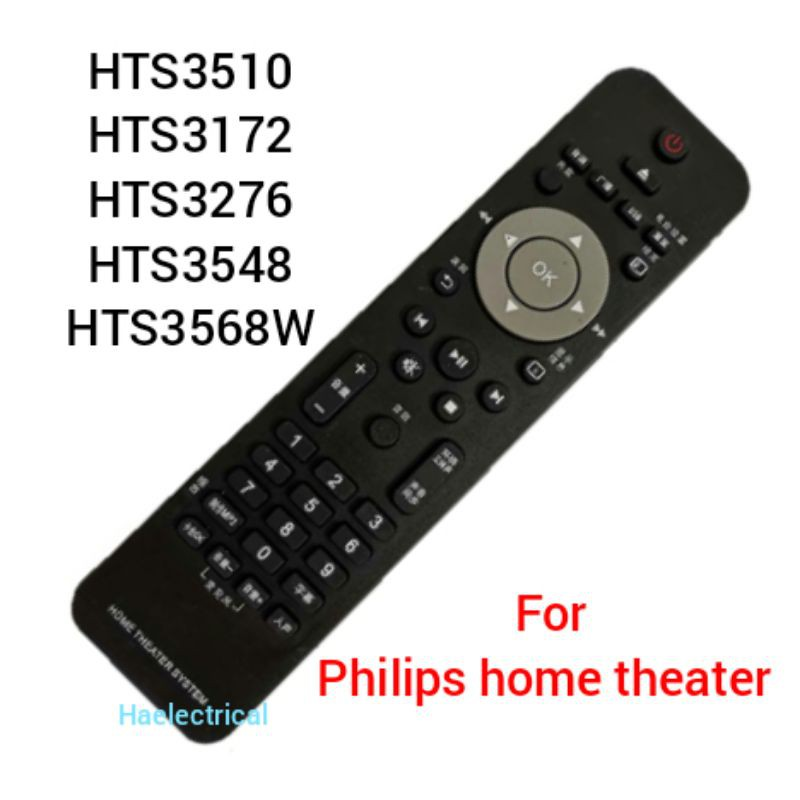 home theater remote control for philips HTS3510 HTS3172 HTS3276 HTS3548 HTS3568W