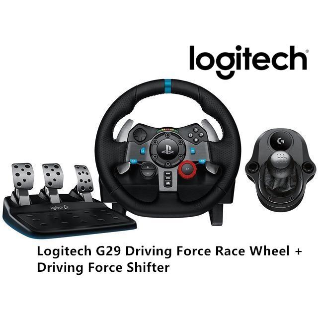 Logitech G29 Driving Force Race Wheel + Driving Force Shifter