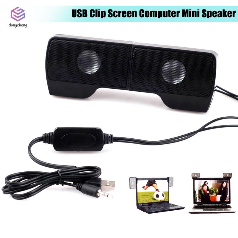 Portable Mini Clip-On USB Powered Stereo Speaker Soundbar for Notebook Laptop PC