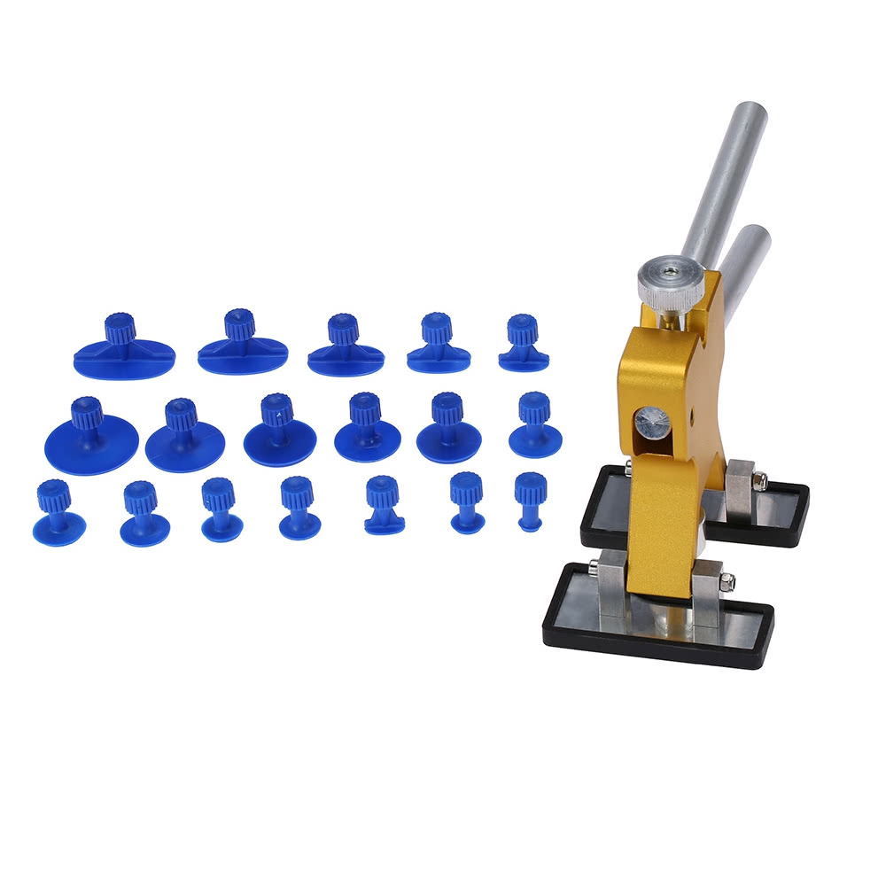 Body Kits Car Body Paintless Hail Dent Repair Removal Tool Kit Lifter T-Bar 18 Puller Tabs Exterior
