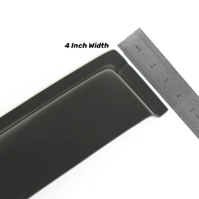 "Hyundai Accent 2002 Door Visor 4"" Inch Width 2.5mm Thickness Air Press Window Visor OEM Style with packing boxes"