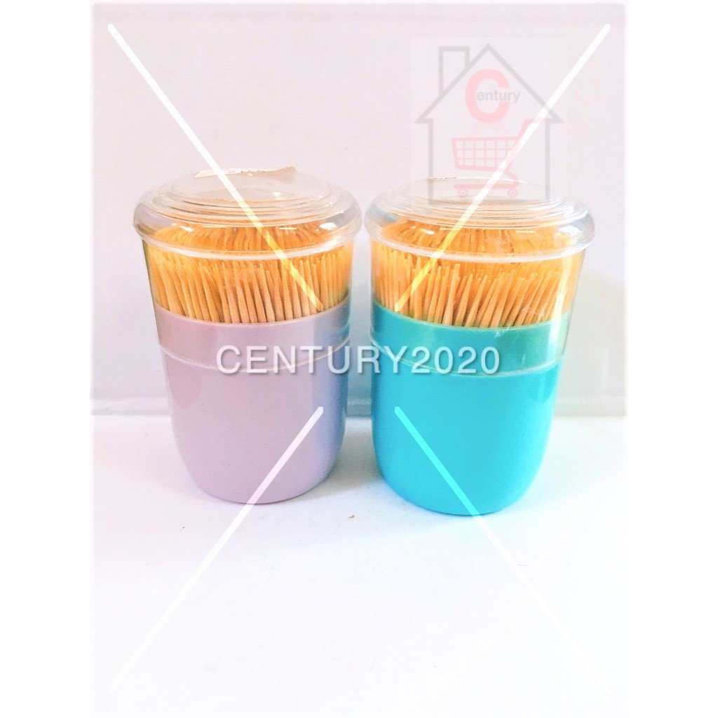 RIMEI Toothpick Dispensers Natural Bamboo Toothpicks For Teeth Cleaning Holding Small Appetizers Cocktails 400Pcs