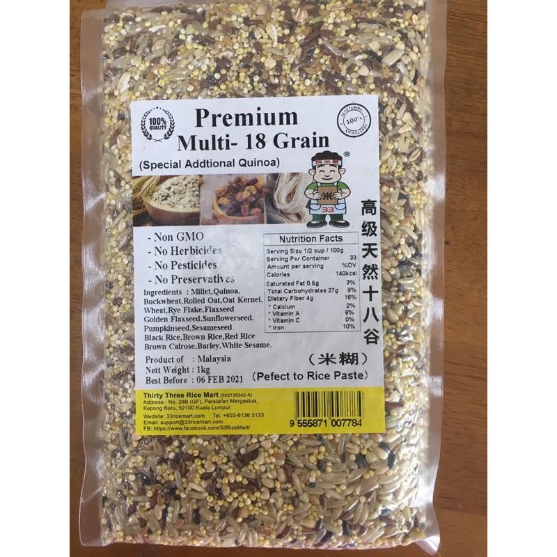 Premium Multi - 18 Grain 高级天然18谷