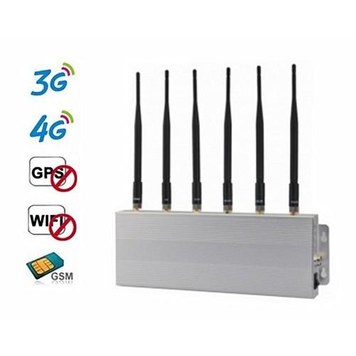 6 Band 2G 3G 4G GPS WiFi Mobile Signal Jammer